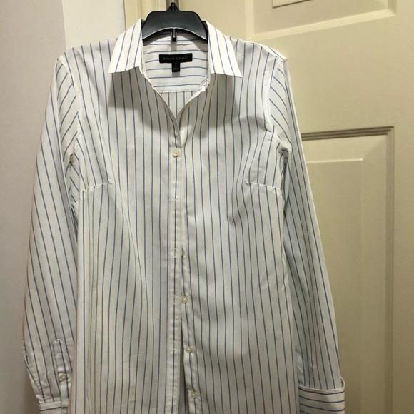 0f32c1f6 Banana Republic Tops   Pin Strip Button Down Shirt   Poshmark
